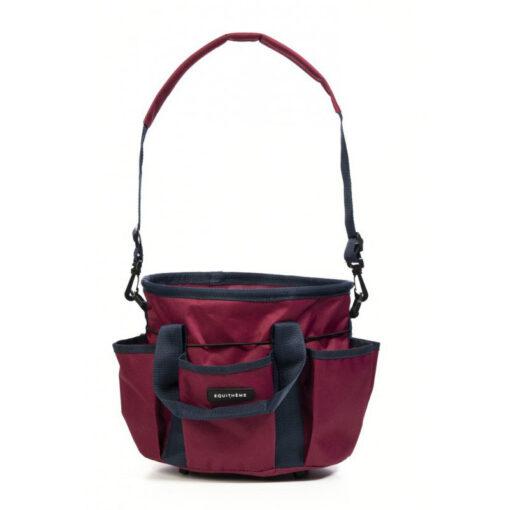 Equithéme hooldusvahendite kott Multipockets veinipunane