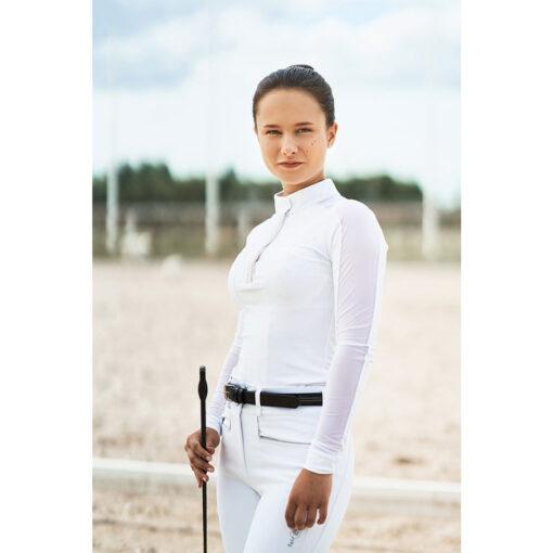 Fair Play pikkade varrukatega võistluspluus Claire Pearl, ratsapüksid Carina ja püksivöö Hematyt