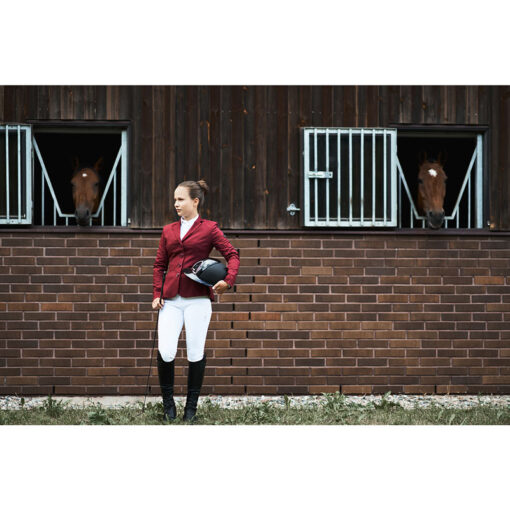 Fair Play võistluspintsak Taylor Chic, ratsapüksid Carina ja Mountain Horse ratsasaapad Sovereign High Rider