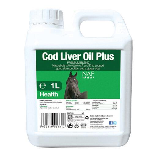 NAF kalamaksaõli Cod Liver Oil Plus 1 L