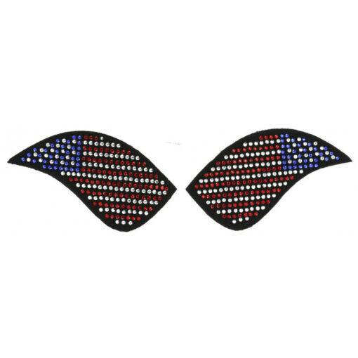 Equi-Théme saapa kaunistused My Primera ratsasaabastele USA lipp