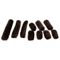 Equi-Théme kunstnahast pehmenduste komplekt päitsetele Teddy pruun