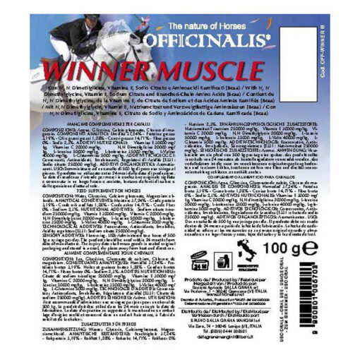 Officinalis pasta Winner Muscle info2