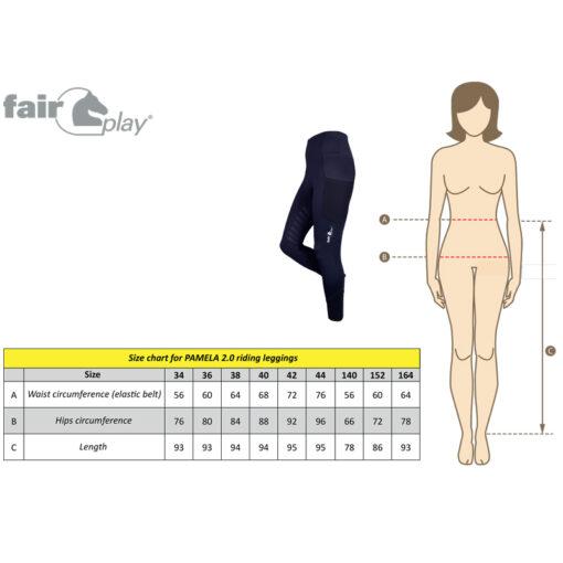 Fair Play Pamela 2.0 mõõdutabel