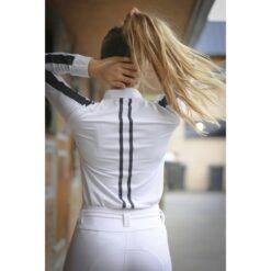 Penelope Leprevost pikkade varrukatega võistluspluus Showshirt valge